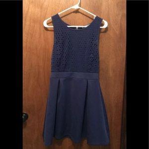 Dina Be Dress (MEDIUM) Navy Blue Mid-Thigh Length
